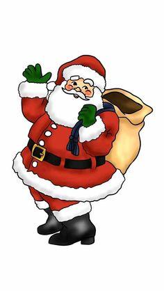 Santa clipart. Christmas photos schimmel stitches