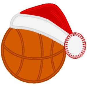 santa clipart basketball