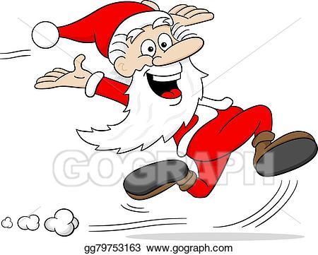 Vector art claus is. Santa clipart boxing