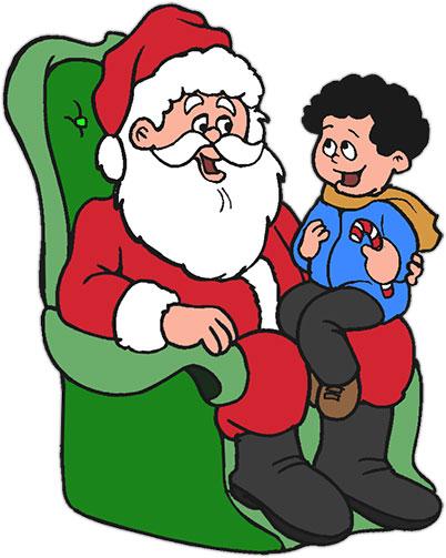 X free clip art. Santa clipart boy