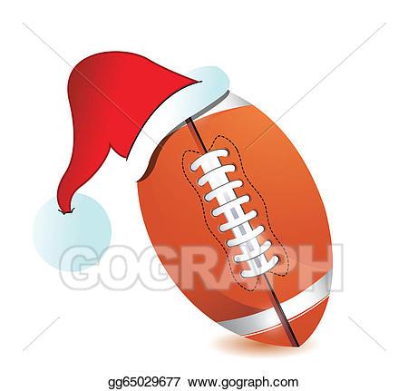 Vector illustration cap eps. Santa clipart football
