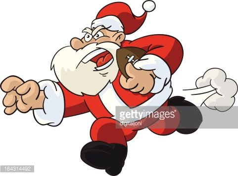 Santa clipart football. Claus player premium clipartlogo