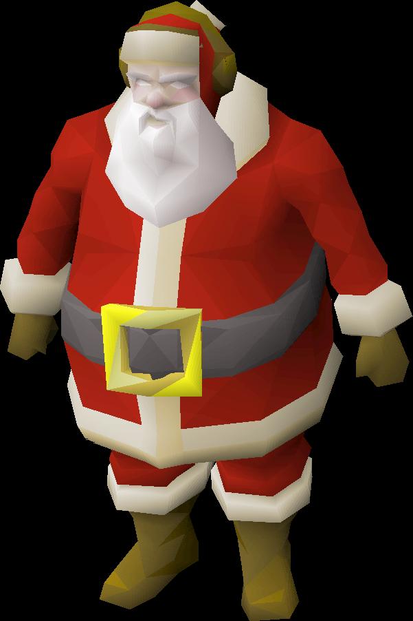 Claus old school runescape. Santa clipart gangster