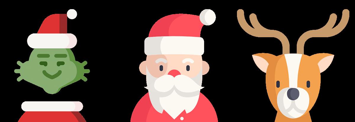 Fingbox holiday network surprises. Santa clipart grinch