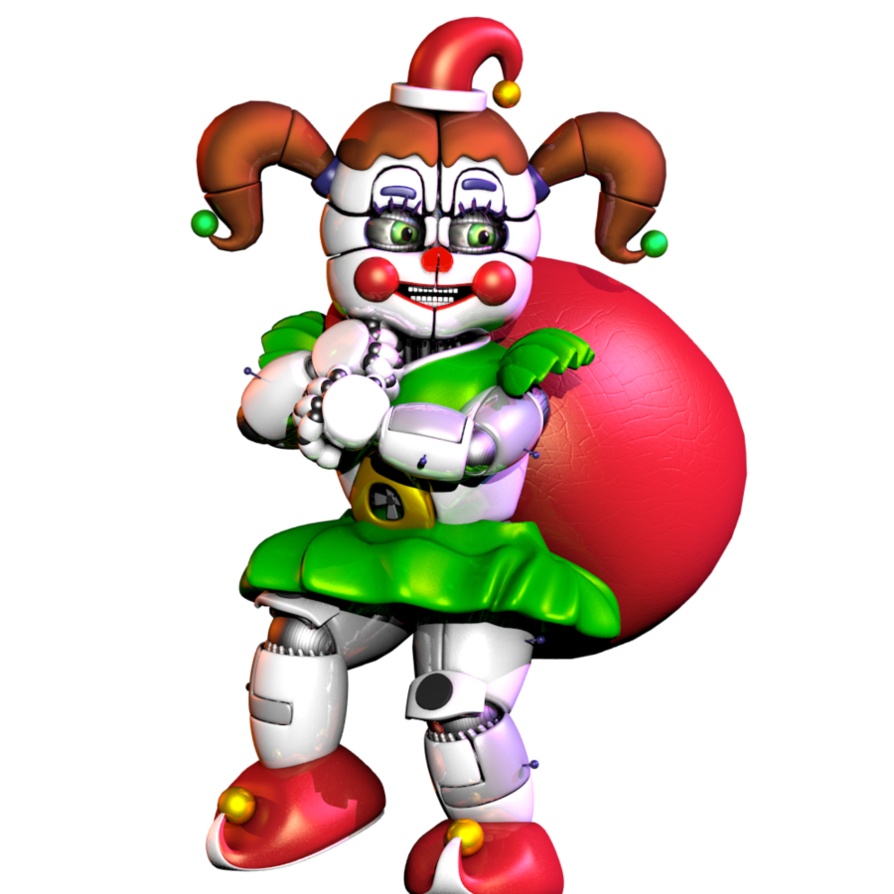 How circus baby stole. Sleigh clipart grinch
