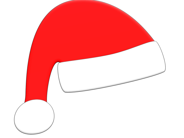 Santa clipart mask. Picture of hat free