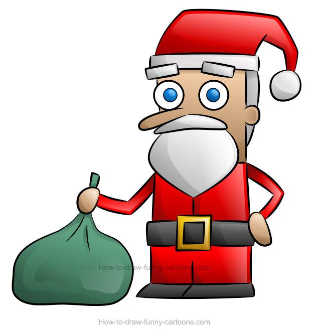 How to draw a. Santa clipart santa clause