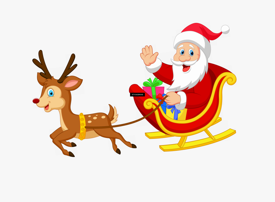 Png photos with a. Sleigh clipart santa s