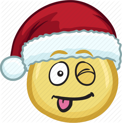Santa hat vector png. Emojis with hats by