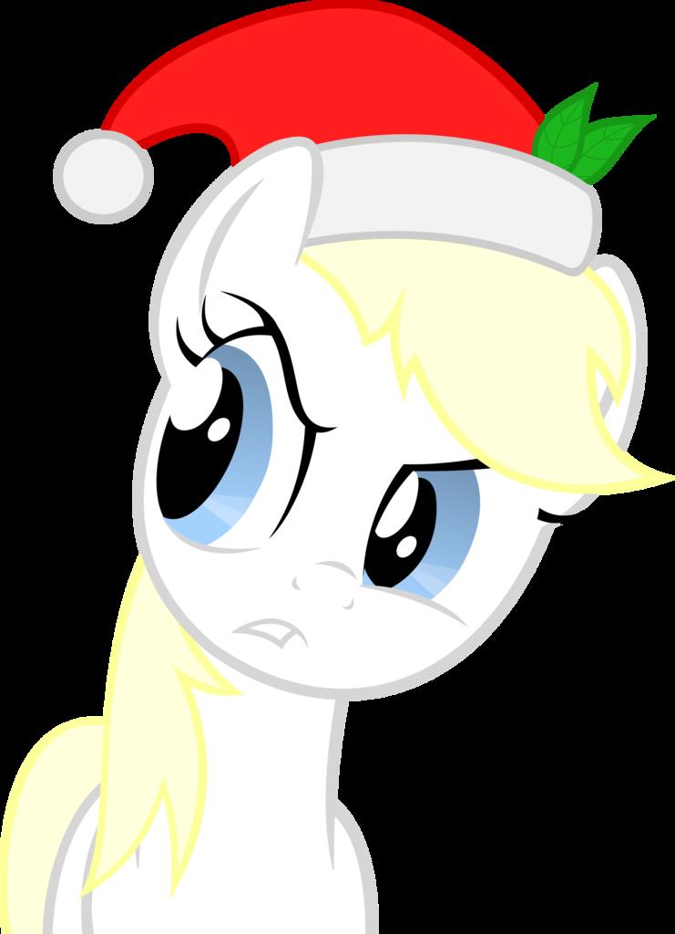 christmas earth pony. Santa hat vector png