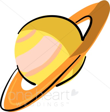 Saturn clipart. Planet stars moon wedding