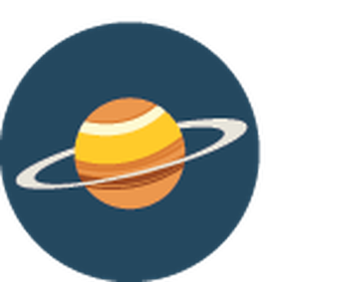 Saturn clipart. Science icons yellow and
