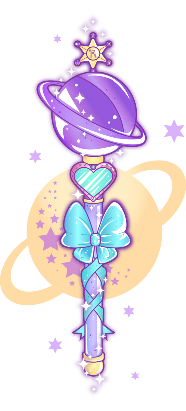 Sailor s wand by. Saturn clipart purple