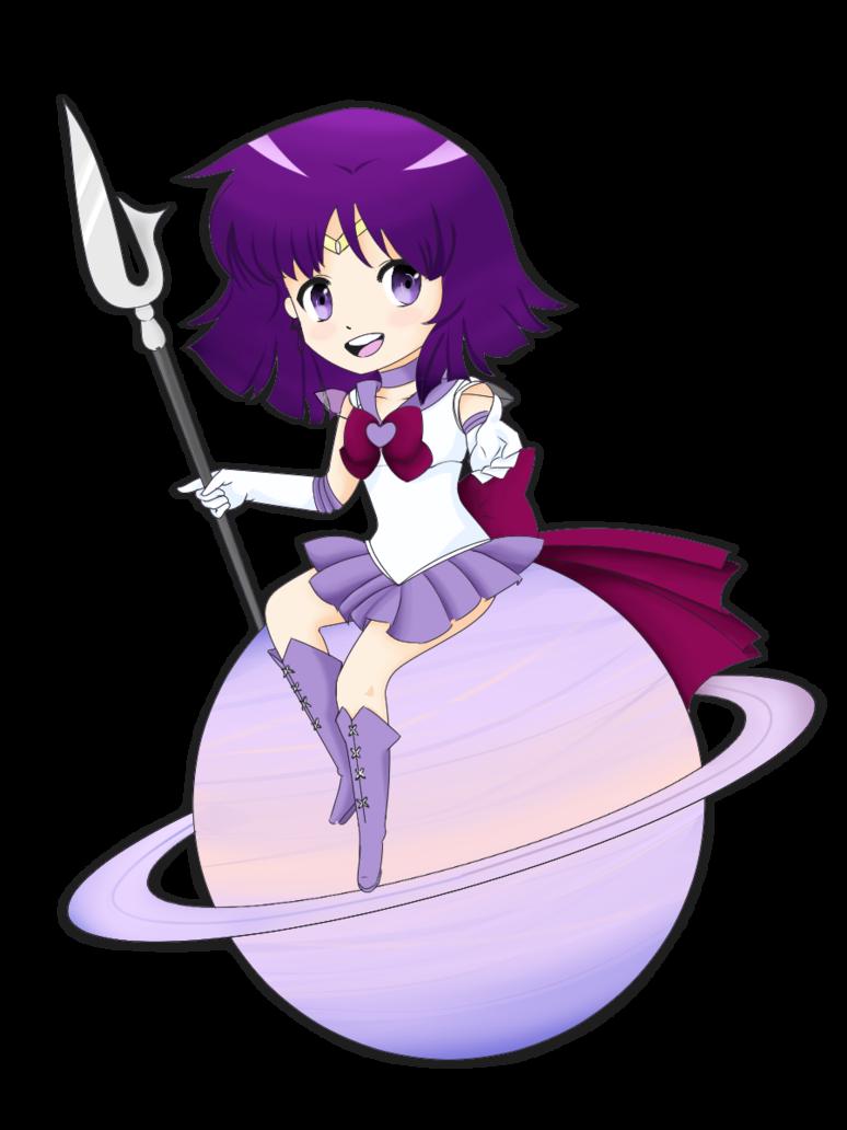 Sailor chibi by aurriechan. Saturn clipart purple