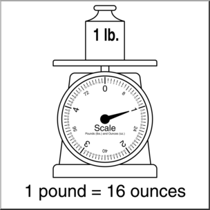 Scale clipart 1 pound. Clip art weights and