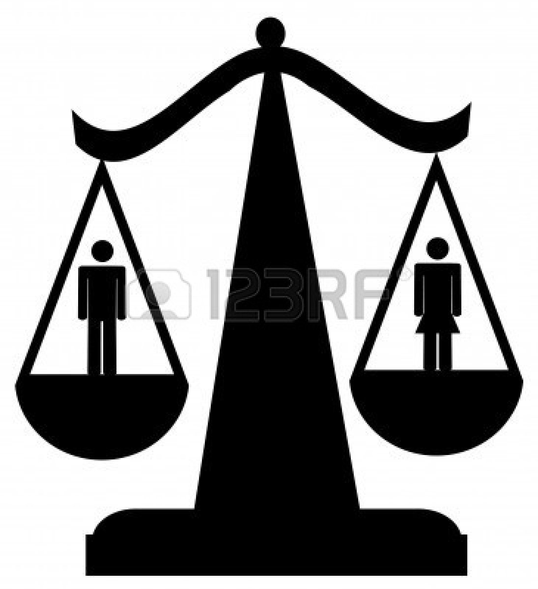 Gender equality scales of. Scale clipart equity