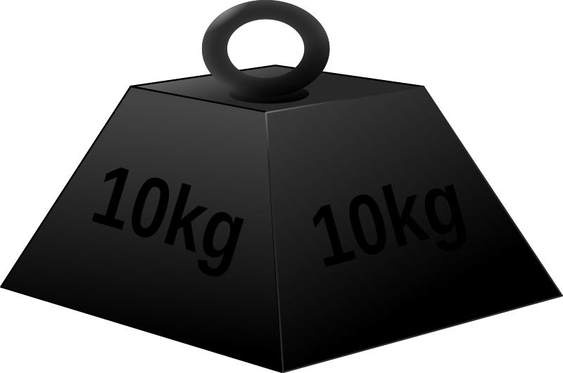 Middle school science online. Weight clipart weighs