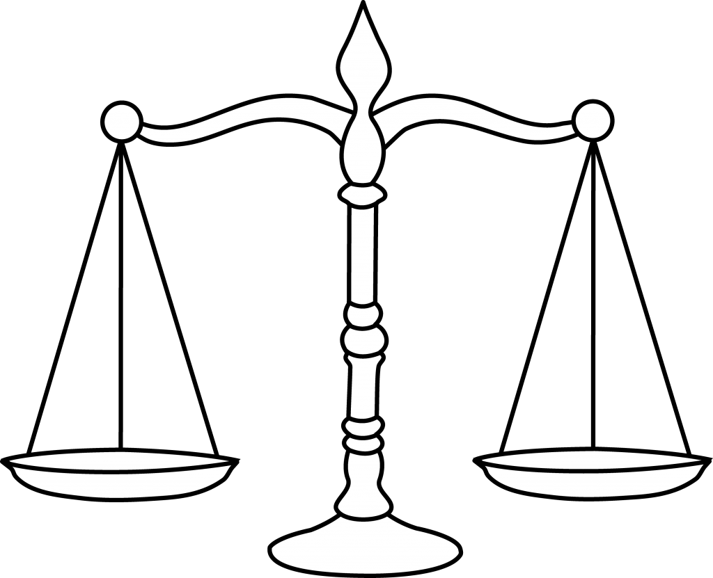 Balance coloring page www. Scale clipart math