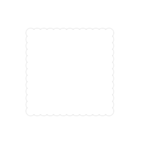 Wholesale custom printed square. Scalloped border png