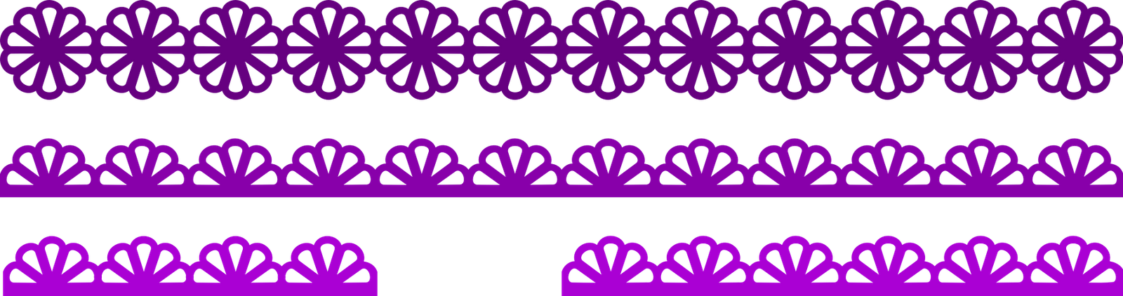 Cut two pieces if. Scalloped border png