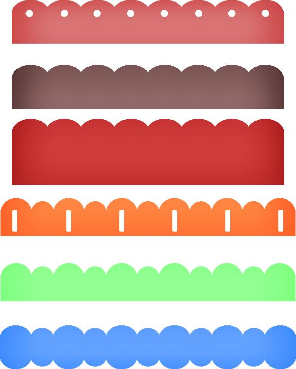 Scalloped border png. Borders frames pinterest