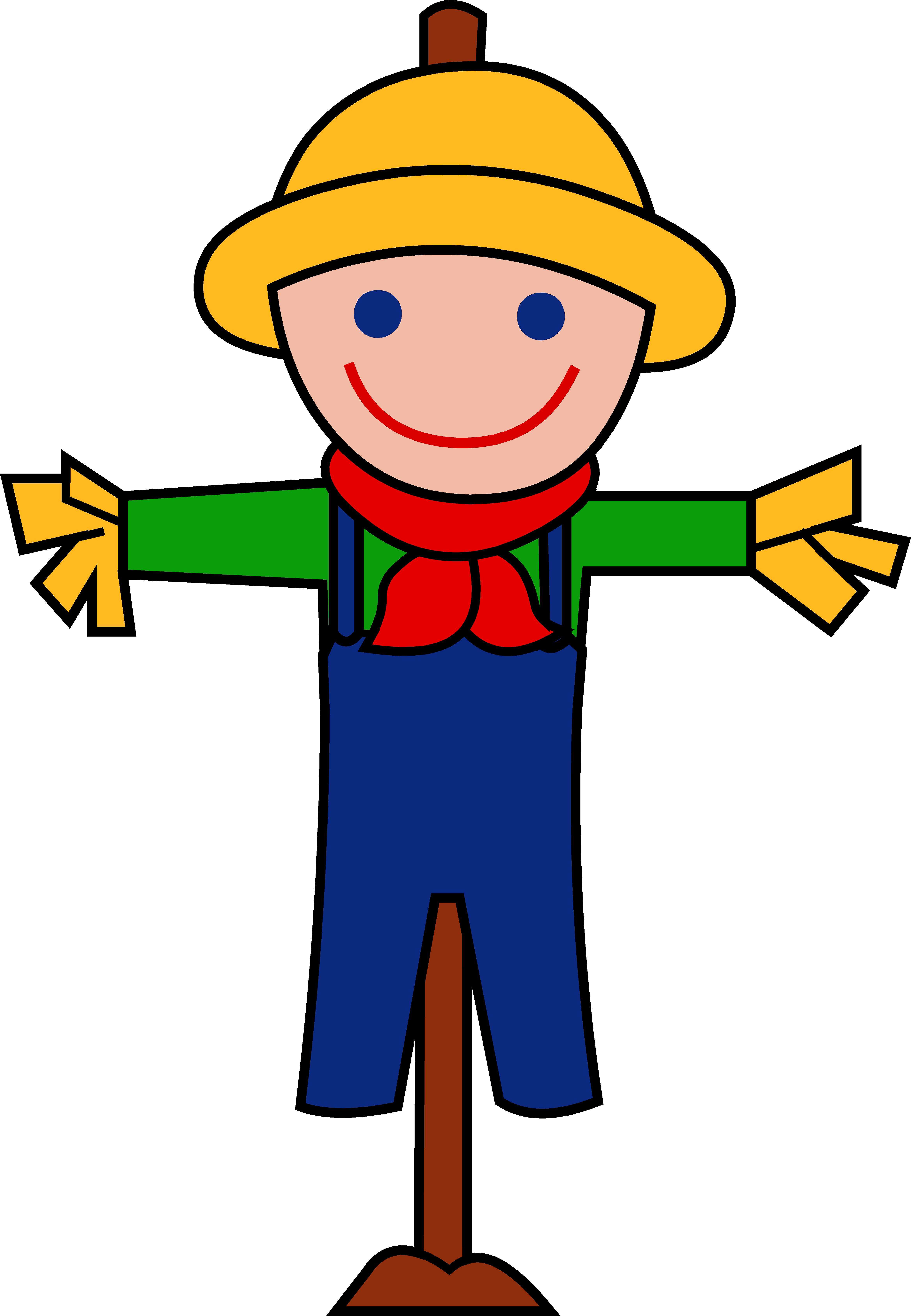 Clipart person easy. Scarecrow clip art printable