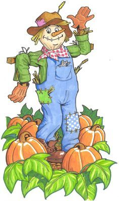 Cute autumn for grandkids. Scarecrow clipart country