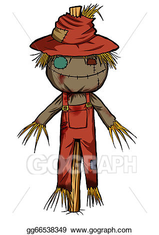 Drawing gg gograph . Scarecrow clipart drawn