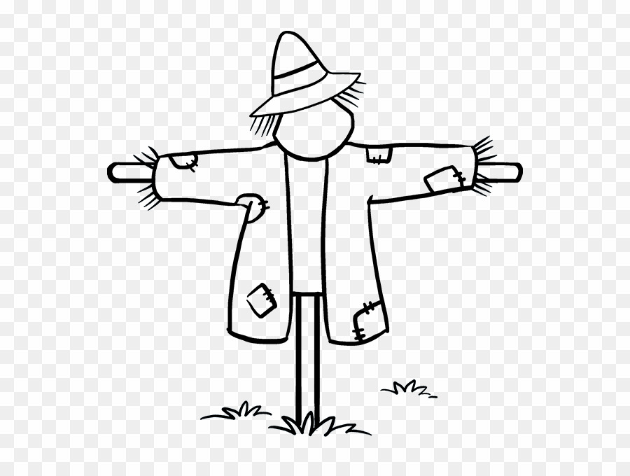 Scarecrow clipart drawn. Easy to draw png