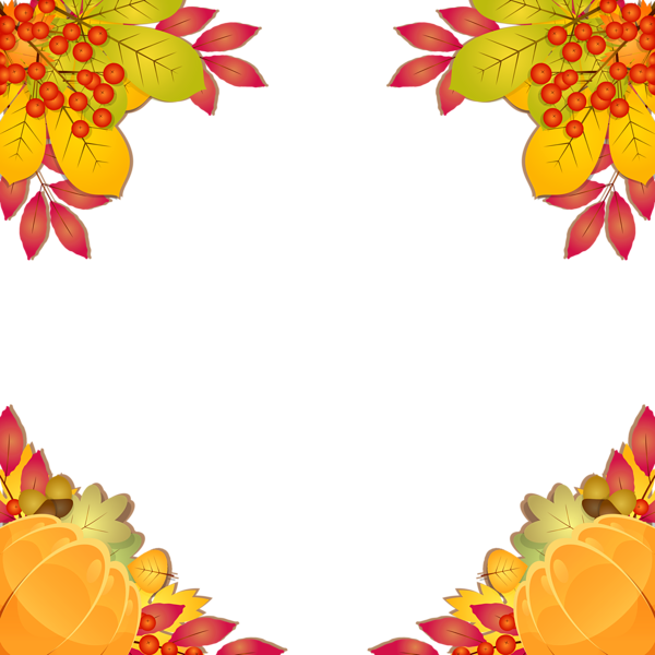 Frame border png image. Scarecrow clipart fall fox