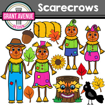 . Scarecrow clipart family