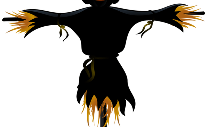 Scary face clip art. Scarecrow clipart field clipart