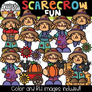 Scarecrow clipart fun. Fall