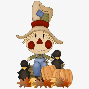 Fall on clip free. Scarecrow clipart fun