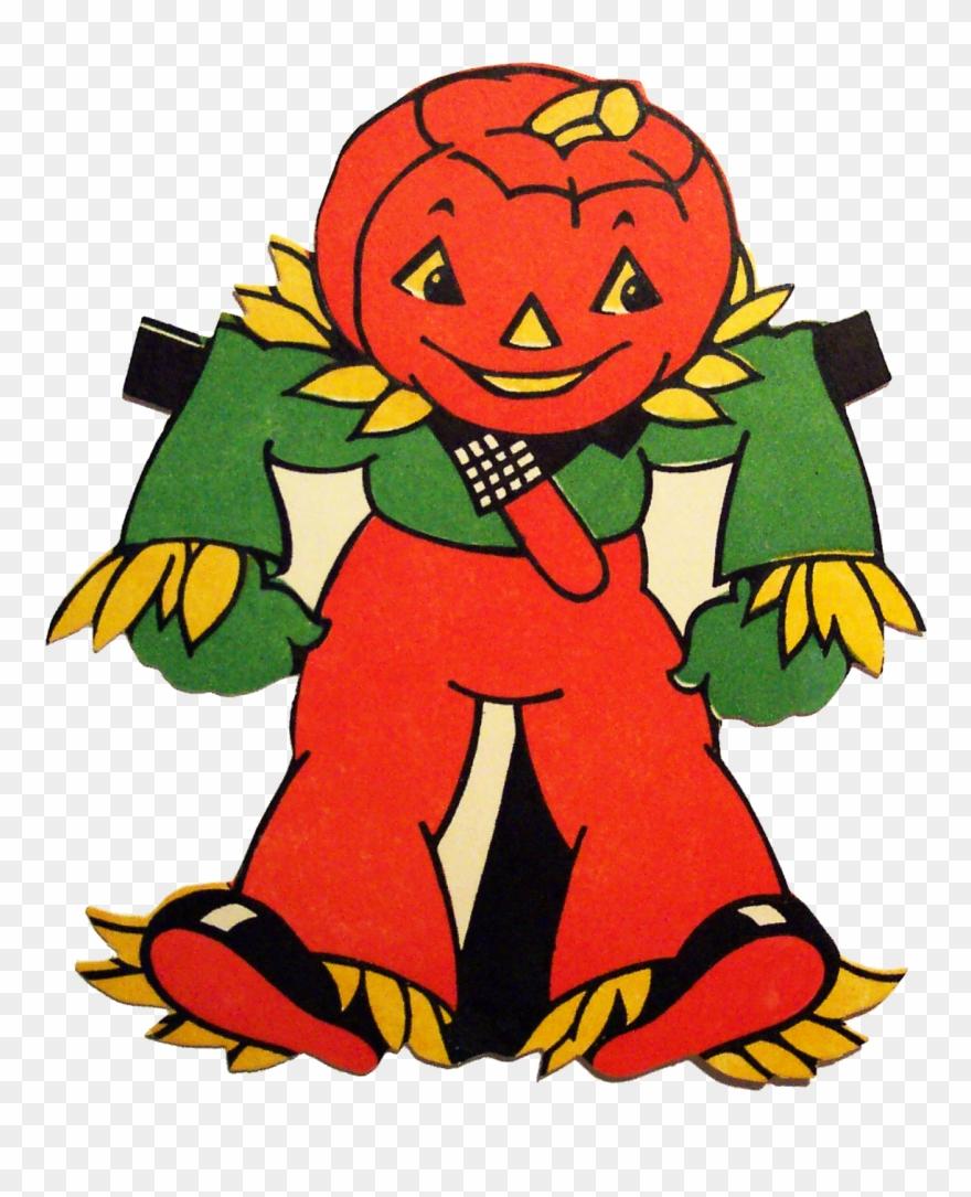 Retro halloween buyenlarge painting. Scarecrow clipart fun