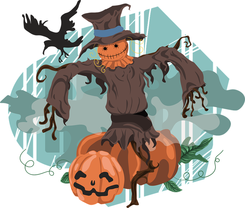 Png free transparent images. Scarecrow clipart halloween