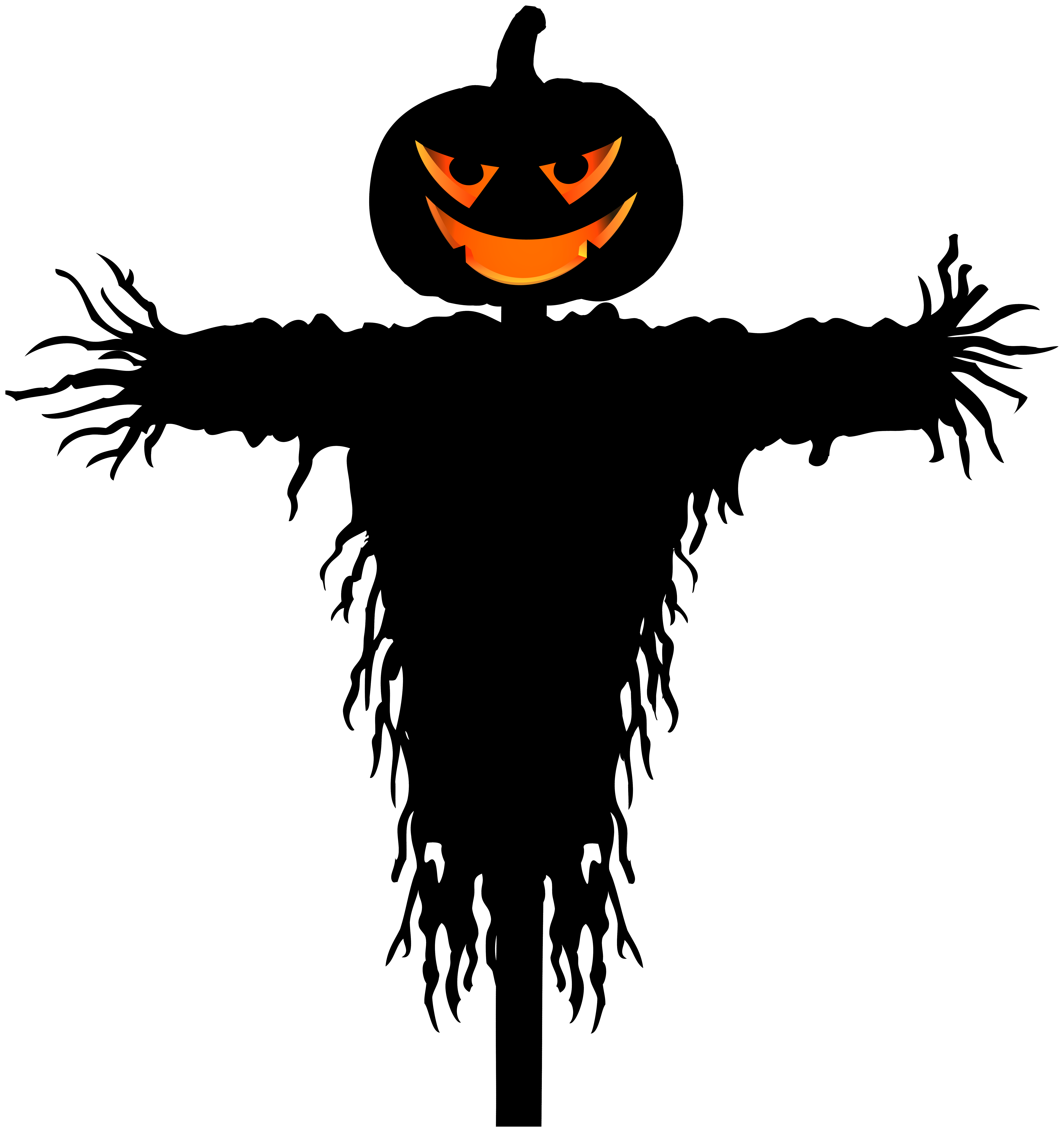 Png clip art image. Scarecrow clipart halloween