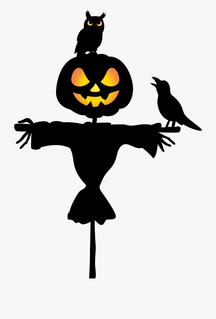 Scarecrow clipart halloween. October