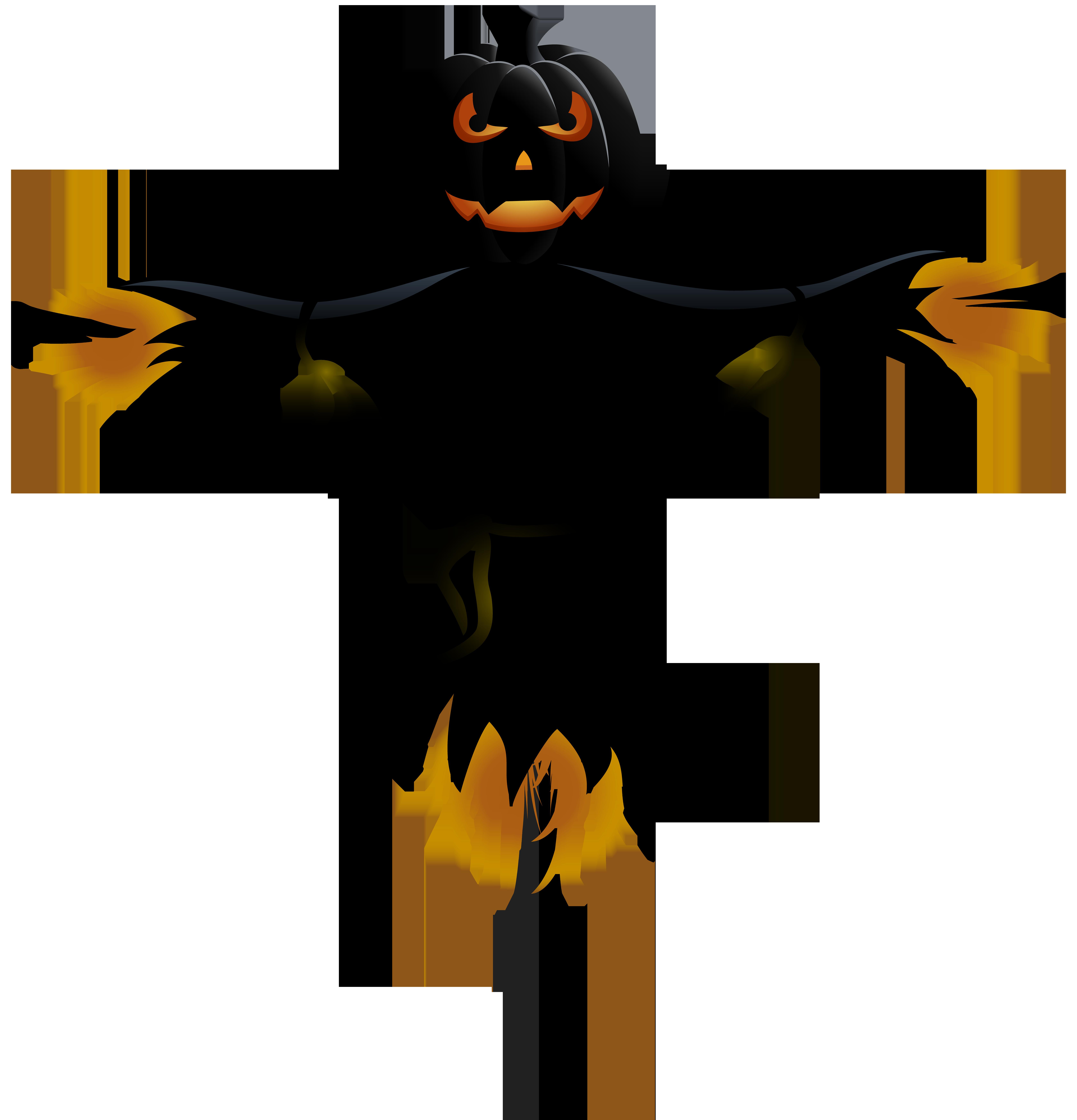 Scarecrow clipart halloween. Pumpkin transparent png clip
