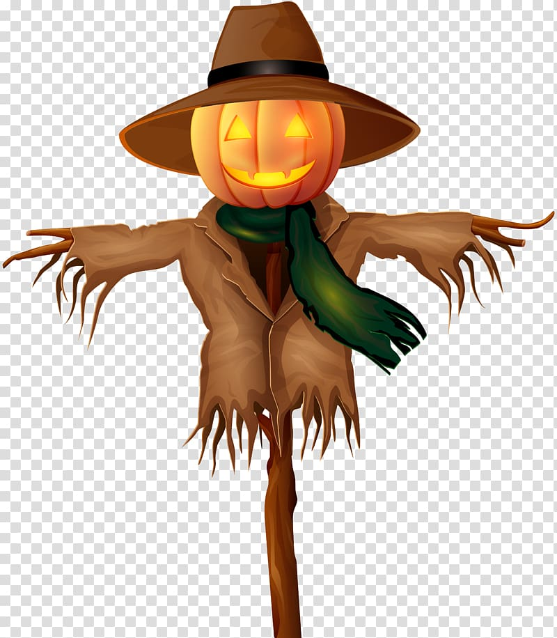Scarecrow clipart scarecrow costume. Hat tree character illustration