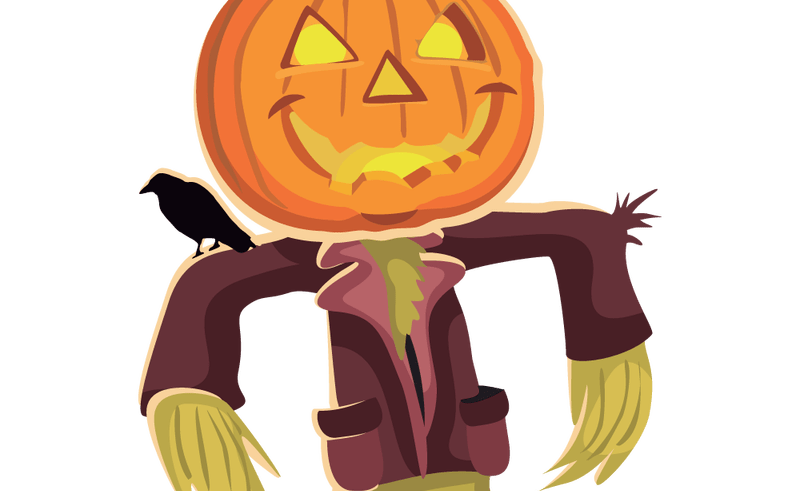 Scary face clip art. Scarecrow clipart scarecrow costume