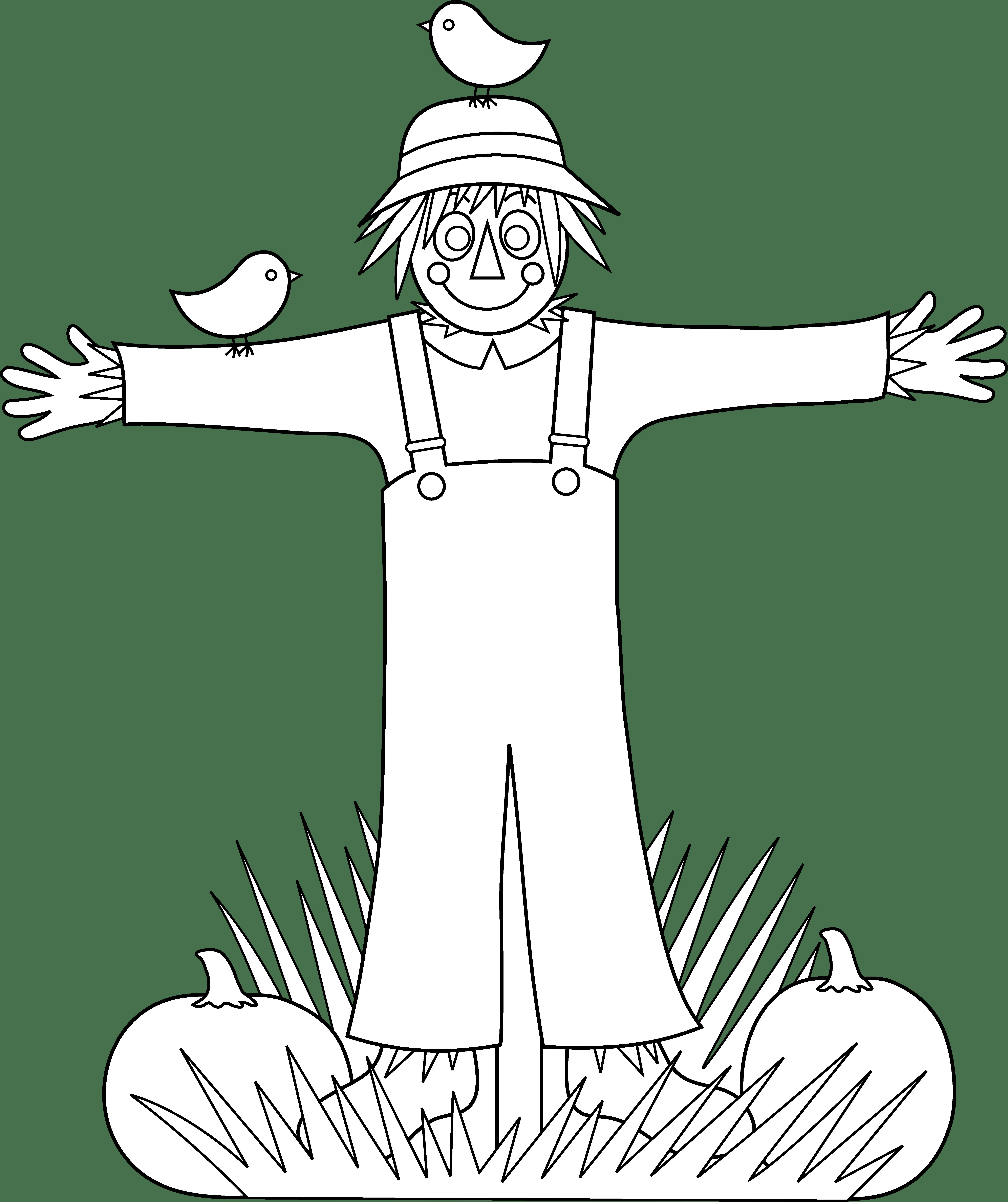 Coloring page democraciaejustica . Scarecrow clipart scarecrow hat