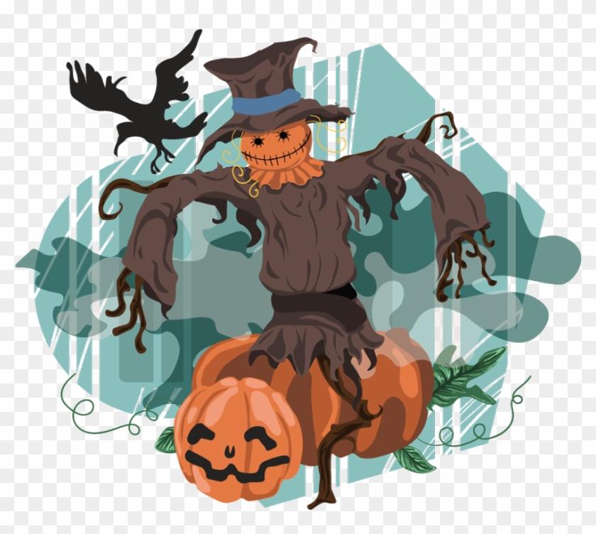 Scarecrow clipart scary. Free cartoon transparent