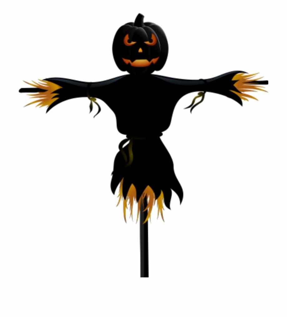 Halloween pumpkin . Scarecrow clipart scary