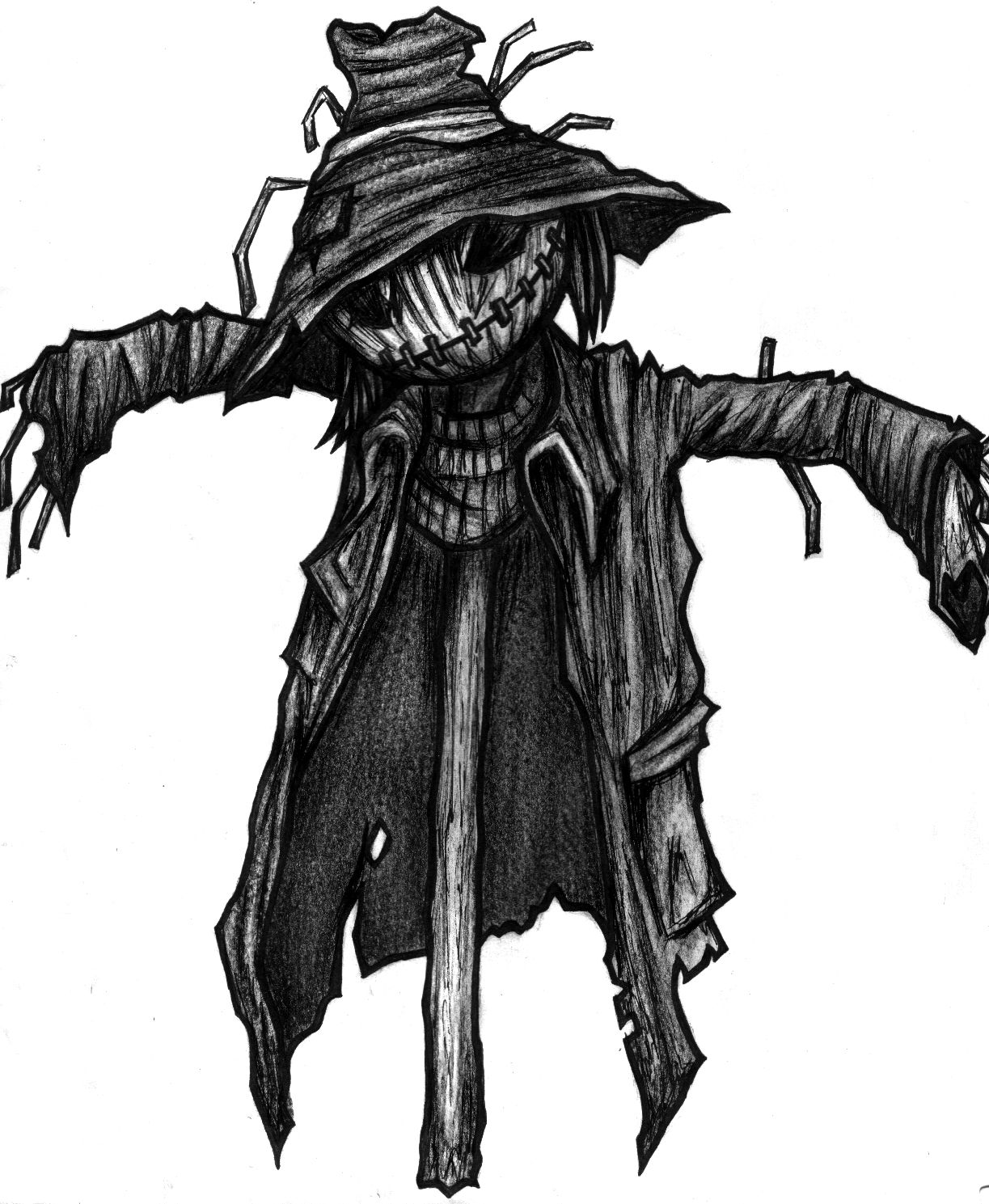 Scarecrow clipart scary. Drawing at paintingvalley com