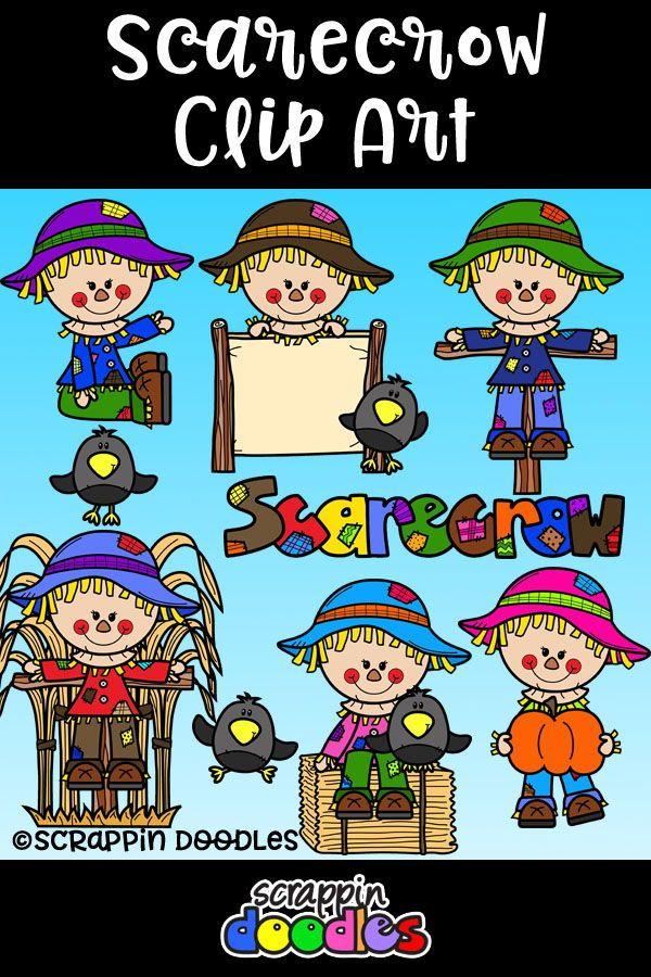 Scarecrow clipart teacher. Scrappin doodles clip art