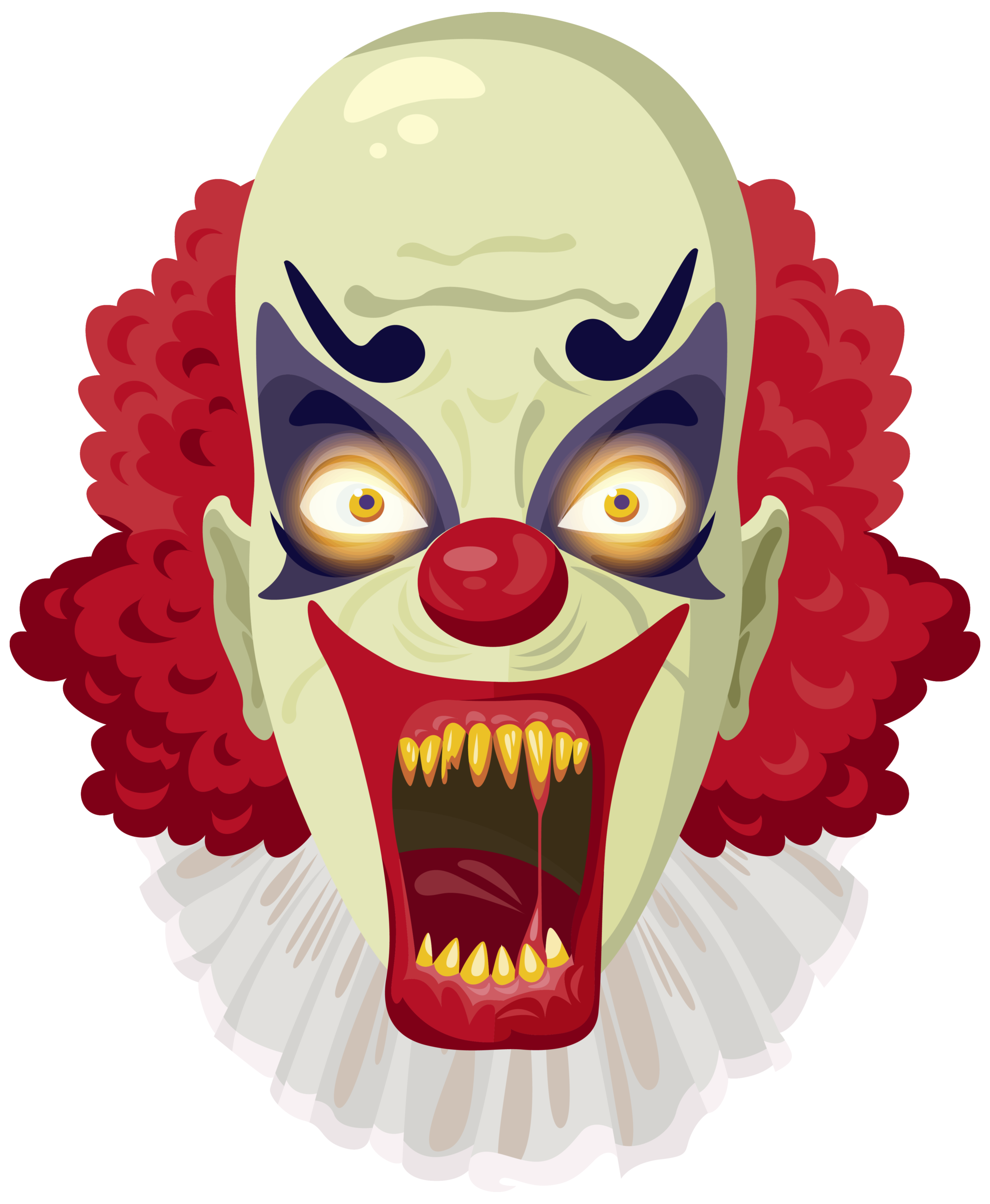 Scary png image gallery. Clown clipart clown face