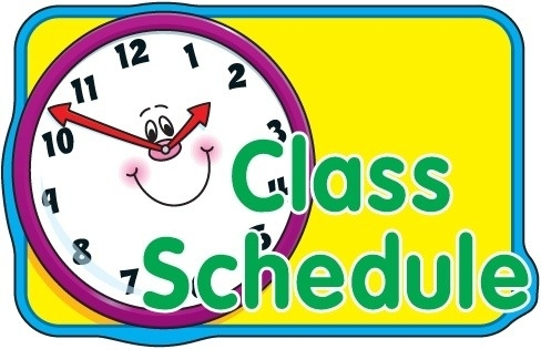 Letters class and idea. Schedule clipart