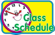 Classroom Schedule Clipart | Clipart Panda - Free Clipart Images