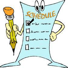 schedule clipart